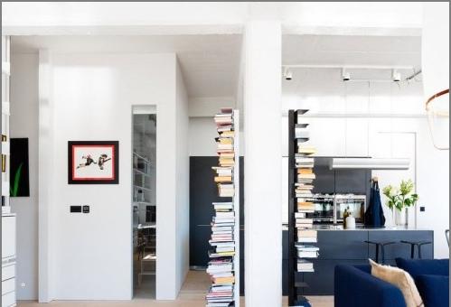 Дизайн проект на апартамент в стила на бяло таванско помещение