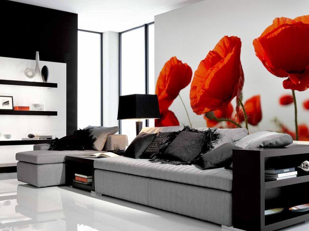 ATR-стена papers_interior_flowers_poppeys666