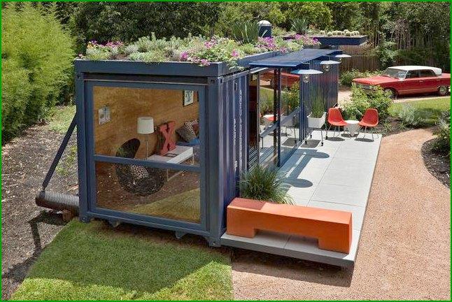 Нискобюджетна къща, изработена от транспортни контейнери