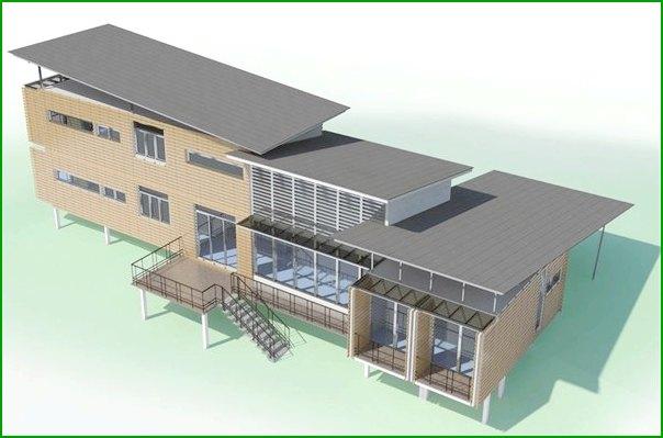 частна къща от извадени контейнери, проектирани от Ананд Бунгало