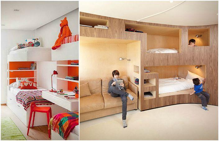 Просторни спестяващи легла и спални.