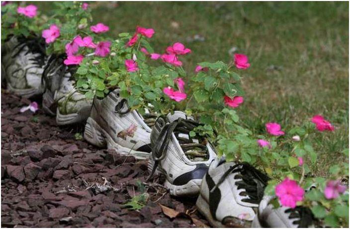 Kwiaty w tenisówkach