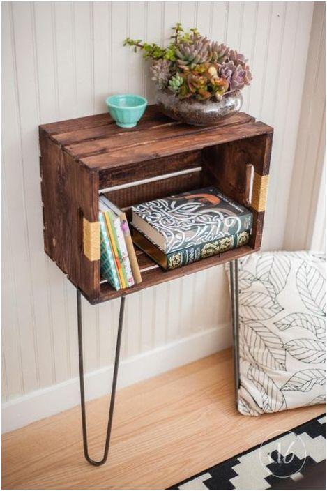 Шкаф от стара дървена кутия