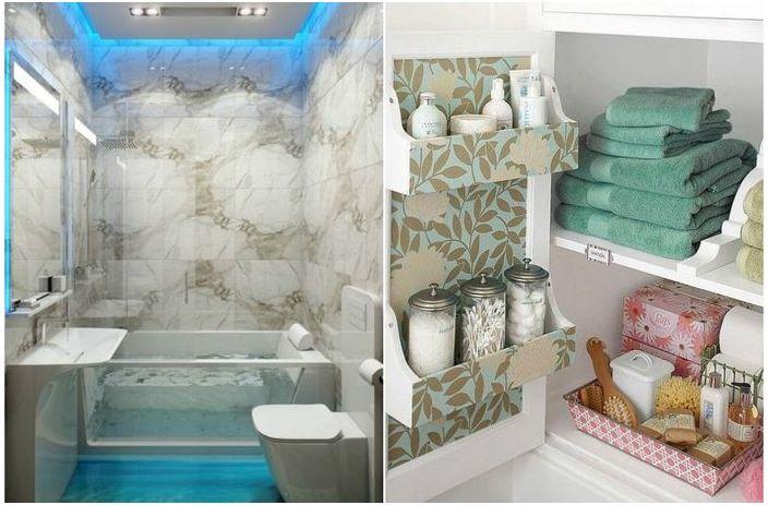 Крутые идеи для маленькой ванной