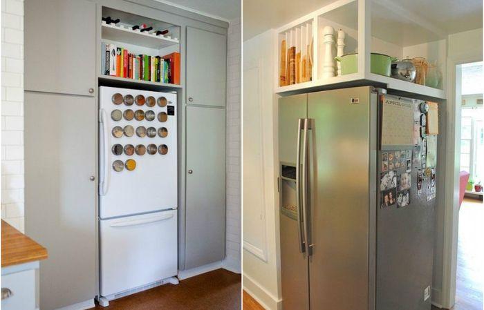 Как да използвате пространството над хладилника