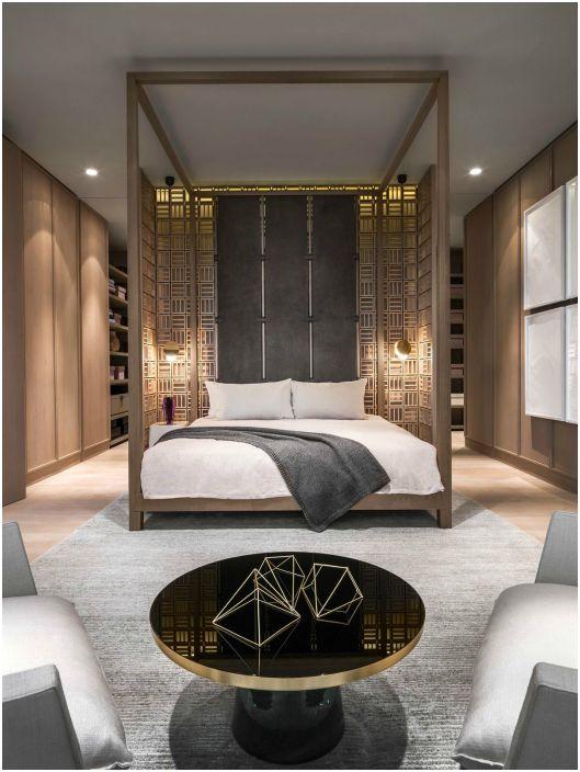 Спалня с ориенталски елементи.