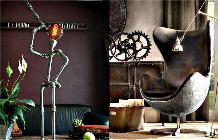 Елементи от индустриален стил в интериора.