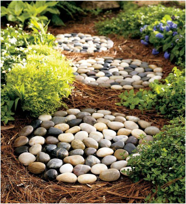 Речна камъче градинска пътека.