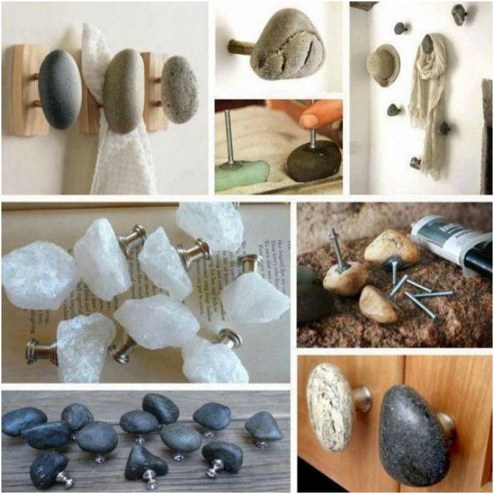 Куки и дръжки, украсени с камъни.