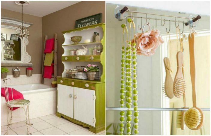 Нетрадиционни идеи за съхранение на нещата в банята.