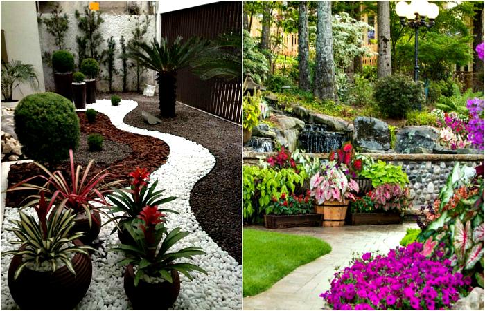 Прекрасни примери за използване на камъни в градинската украса.