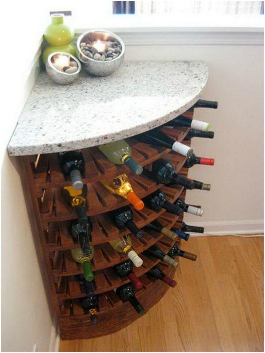 Ъгъл бутилка вино.
