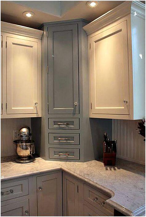 Ъглов кухненски шкаф.