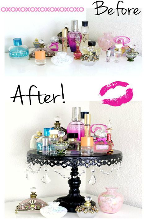 Oryginalna półka na perfumy.
