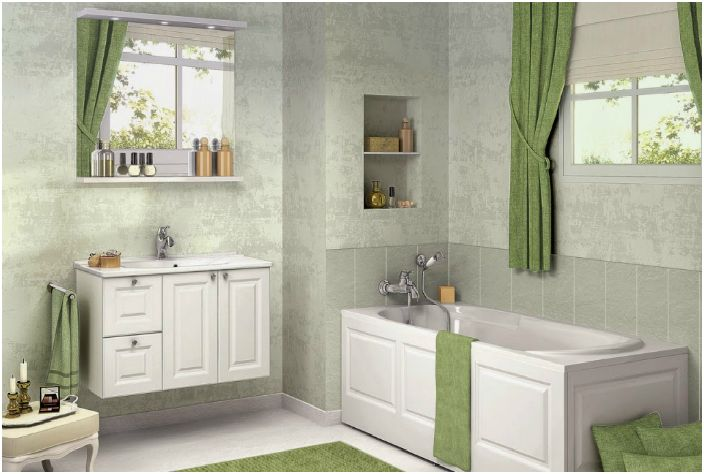 Łazienka w stylu wiejskim.