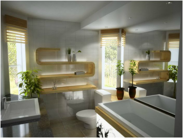 Mała łazienka w nowoczesnym stylu.