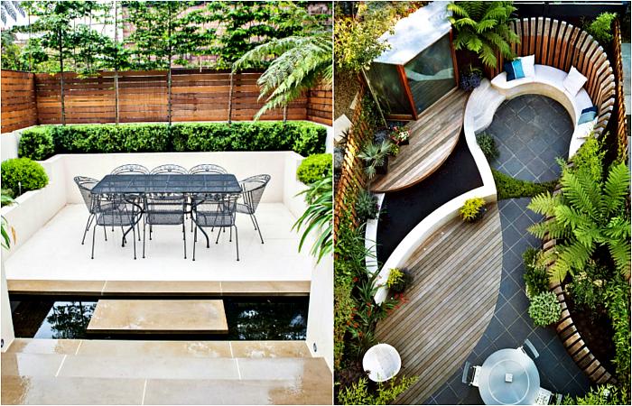 Зашеметяващи примери за стилно обзавеждане на вътрешен двор.