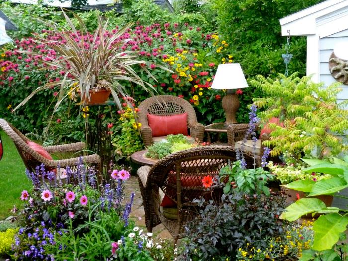 Цъфтяща градина.