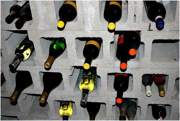 Място за съхранение на вино.