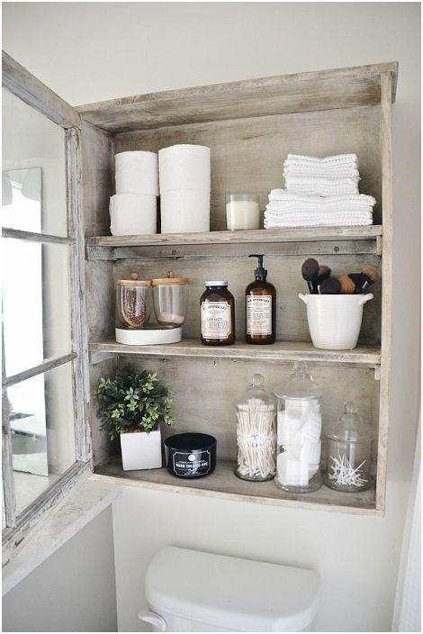 Кът за съхранение на необходимите неща в банята.