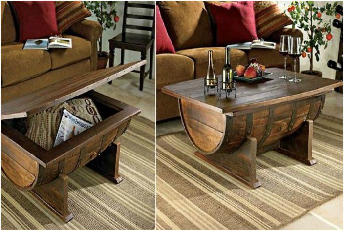 Кофейный столик из винной бочки.