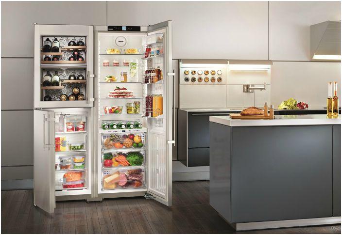 Funkcionális hűtőszekrény.
