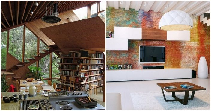 Интересен интериор с нестандартни дизайни, които ще променят идеята за дизайна на стаята.