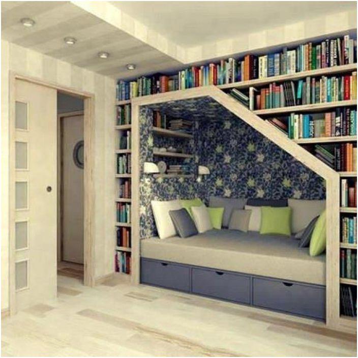 Невъзможно е да преминете през тази стая и да не искате да останете в нея, за да прочетете любимата си книга.