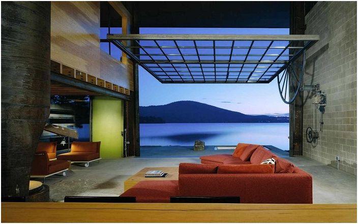 Z niezwykłego pokoju otwiera się piękny widok na bezkres oceanu.
