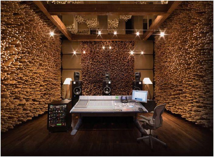 Дървените стени в стая са нестандартно решение за интериорна декорация.