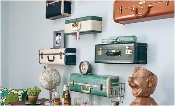 Półki w stylu vintage.
