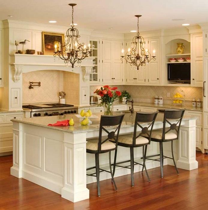 Красив дизайн на кухня в класически стил, каквото ви трябва за душата.