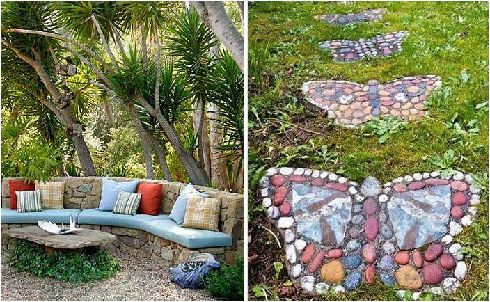 Wspaniałe pomysły na dekoracje ogrodowe z kamieniami.