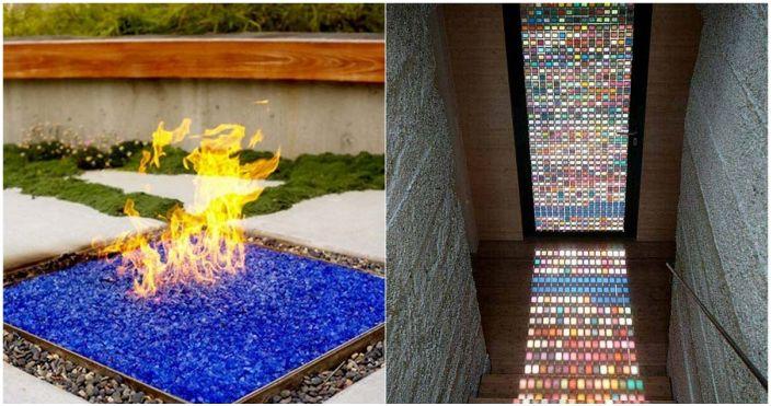 Интересни опции за декор с помощта на цветно стъкло.