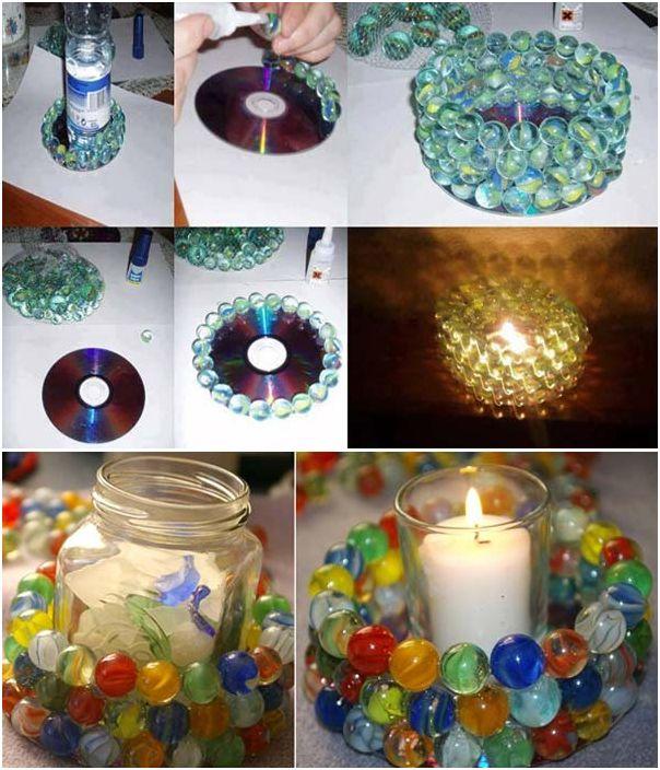 Интересни стъклени цветни свещници, които можете да направите сами.