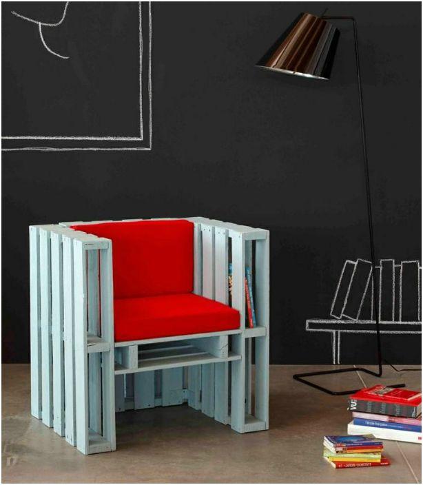 Fotel z palet.