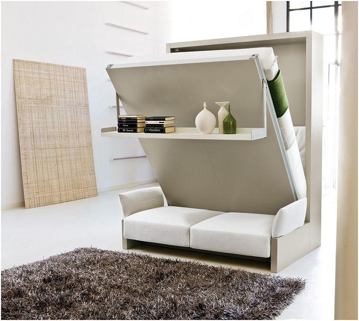 Preferowane w małych pomieszczeniach, najczęściej meble wielofunkcyjne.