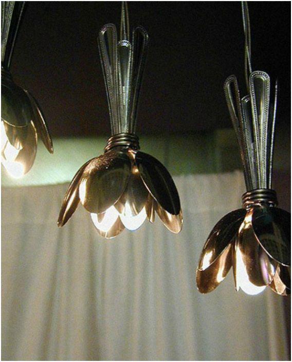 Най-красивите лампи, направени от супени лъжици.