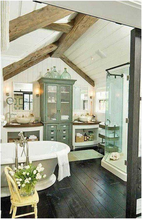 Piękna łazienka na poddaszu to proste i zarazem wspaniałe rozwiązanie.
