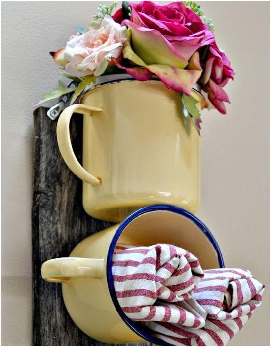 Stilig og uvanlig oppbevaring av håndklær på badet