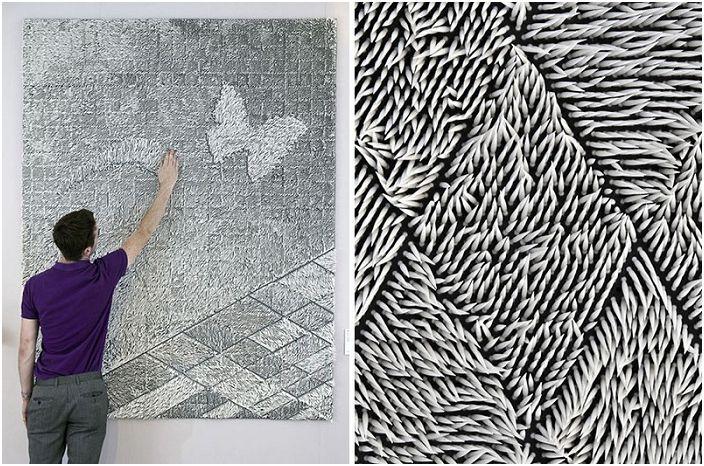 Luksusowe tapety tekstylne, które są tworzone z widocznych włókien tkaniny.