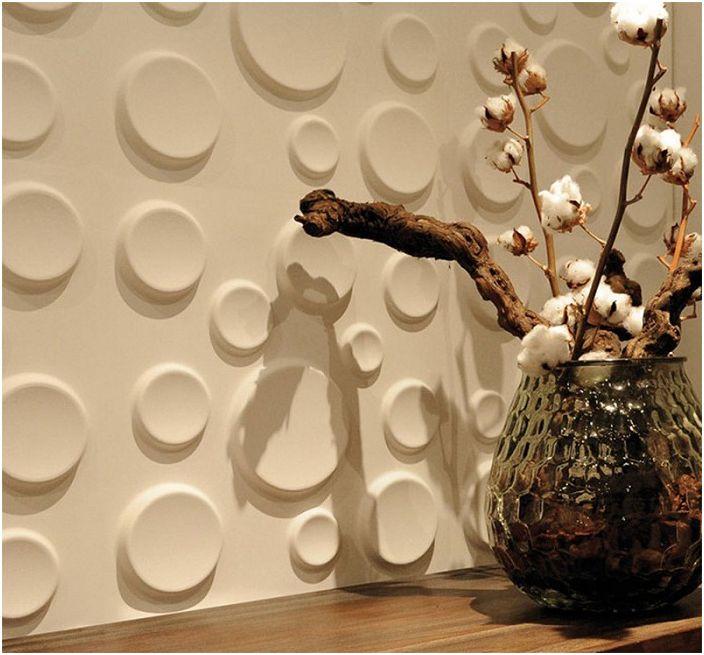 Organiczna powierzchnia ściany, która zachwyci oko i stworzy lekką i przytulną atmosferę.