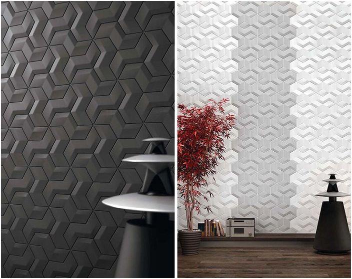 Wszechstronna dekoracja ścienna z geometrycznymi wzorami, które naprawdę odzwierciedlają cechy wystroju.