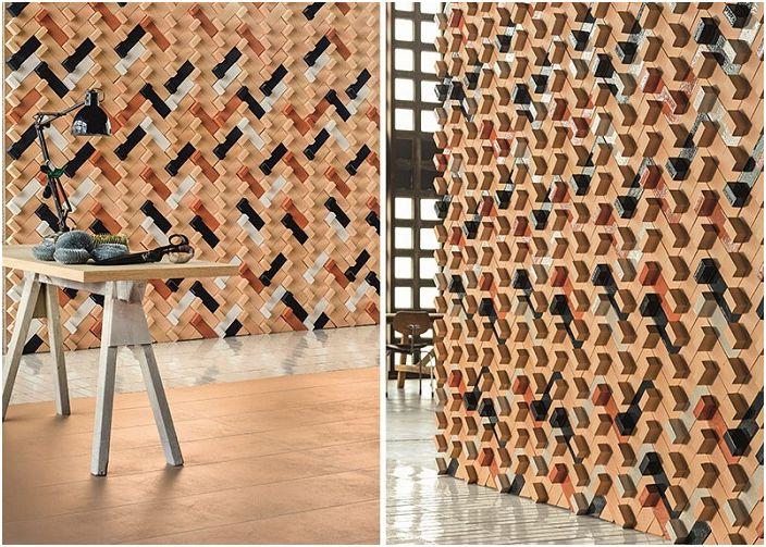 Zgodnie z tą zasadą możliwy jest ciekawy projekt ścian w każdym pomieszczeniu.