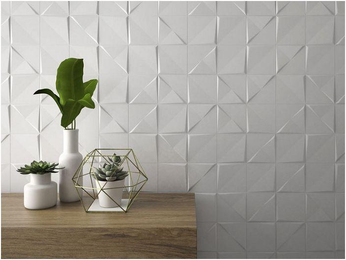 Oryginalne zmysłowe ściany - prosta i piękna dekoracja ścienna w pokoju w jasnych kolorach.