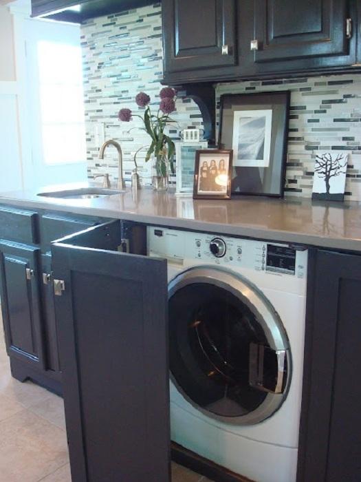 Нестандартно решение за създаване на шкаф за пералня.