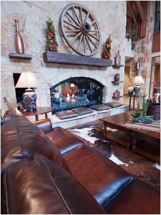 Колелото може да бъде чудесно допълнение към интериора на всяка стая и да украси камина например.