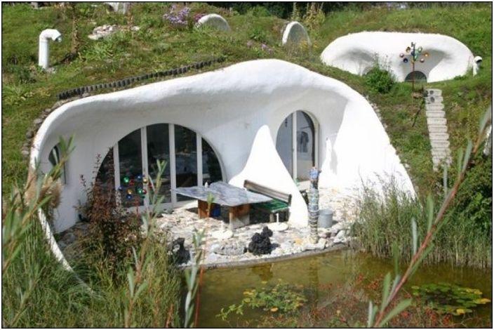 Земляной дом от Vetsch Architektur.