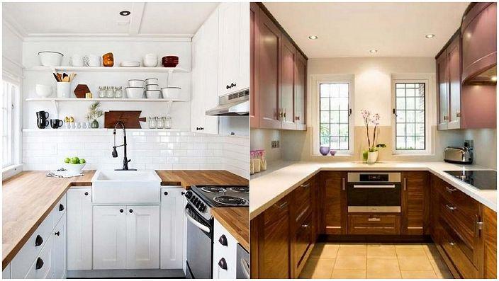 U-muotoiset keittiöt ovat erinomainen ratkaisu tilan järjestämiseen keittiössä.