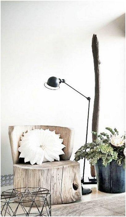 Świetna opcja na stworzenie krzesła z drewna, a raczej z fragmentu pnia drzewa.